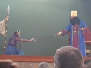 Kaliegh and Mattais in the drama