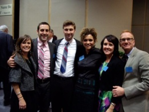 With Sonny and Mel, and Matt and Rach in 2012