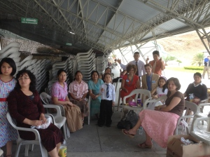 With the Congregation at lunch