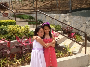 Two cute girls from our hall, Paulita, and Raquel