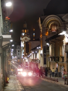 """A street in """"Centro Historico"""" Quito"""