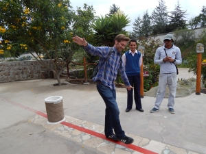 On the Equator you can't walk in straight line with your eyes closed
