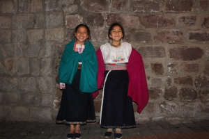 Some cute girls in traditional garb