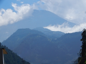 This is the only picture we were able to get of Tungurahua while we were in Baños